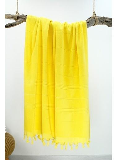 Bedinn N 90 X 180 Cm Pamuk Ipliği Yıkanabilir Sı Peştemal Havlu Sarı